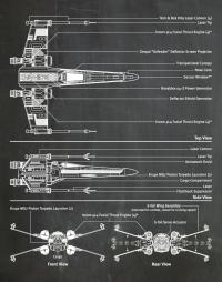 """Постер вініловий """"X-Wing Star Wars"""""""
