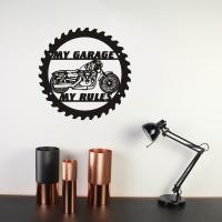 Signboard My Garage My rules Harley Davidson 48