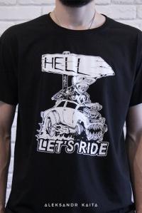 """Футболка """"Let's ride"""" unisex"""