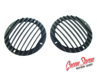Raised Audio Grill Hot Rod Stripes