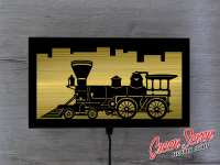 Lamp Steam locomotive LED Wall and table