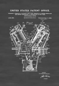 "Poster vinyl ""V type engine"""