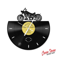 Годинник з вінілової платівки Harley Davidson DYNA