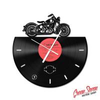 Годинник з вінілової платівки Harley Davidson FLH Duo Glide