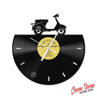 Годинник з вінілової платівки Vespa 150 VBA Italian scooter