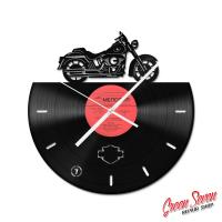 Годинник з вінілової платівки Harley Davidson Softail
