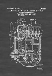 """Poster vinyl """"Engine Ford vintage"""""""