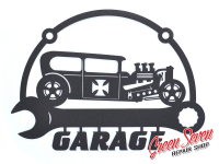Signboard Garage Hot Rod Sedan