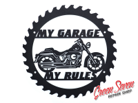 Signboard My Garage My rules Harley Davidson