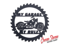Signboard My Garage My rules HD Duo-Glide