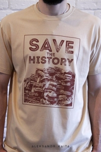"T-shirt ""Save the history"" unisex"